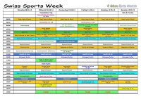 Swiss Sports Week 2012 Sportplan